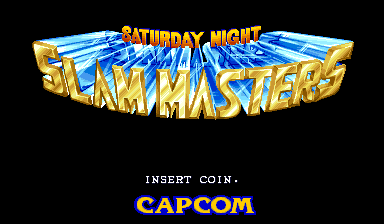Saturday Night Slam Masters (World 930713) Title Screen