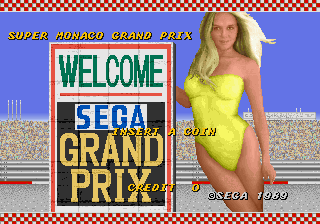Super Monaco GP (Japan, Rev A) (FD1094 317-0124a) Title Screen
