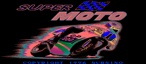 Super Moto (Italy, v1.6) Title Screen
