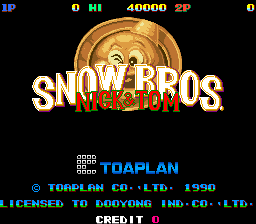 Snow Bros. - Nick & Tom (Dooyong license) Title Screen