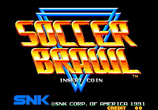Soccer Brawl (NGH-031) Title Screen