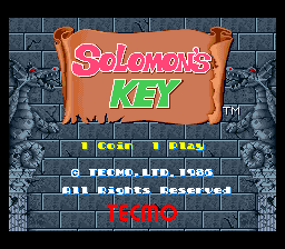 Solomon's Key (US) Title Screen