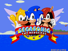 SegaSonic The Hedgehog (Japan, rev. C) Title Screen