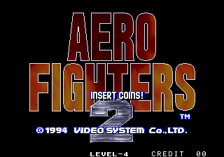 Aero Fighters 2 / Sonic Wings 2 Title Screen