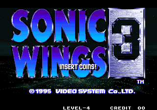 Aero Fighters 3 / Sonic Wings 3 Title Screen