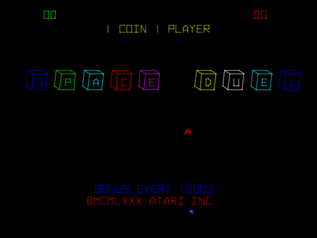Space Duel (version 2) Title Screen