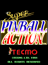 Super Pinball Action (US) Title Screen