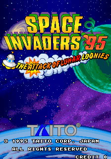 Space Invaders '95: The Attack Of Lunar Loonies (Ver 2.5O 1995/06/14) Title Screen