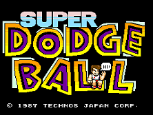 Super Dodge Ball (US) Title Screen