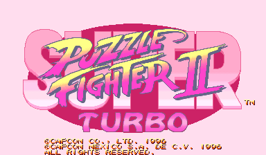 Super Puzzle Fighter II Turbo (Hispanic 960531) Title Screen