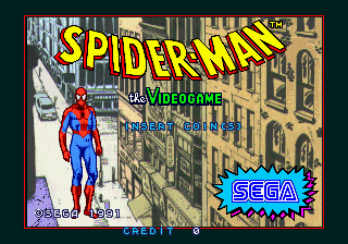 Spider-Man: The Videogame (World) Title Screen