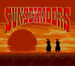 Sunset Riders (bootleg of Megadrive version) Title Screen