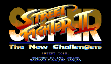 Super Street Fighter II: The New Challengers (USA 930911 Phoenix Edition) (bootleg) Title Screen