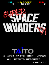 Super Space Invaders '91 (World, Rev 1) Title Screen