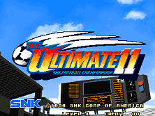 The Ultimate 11 - The SNK Football Championship / Tokuten Ou - Honoo no Libero Title Screen