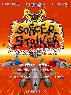 Sorcer Striker (set 2) Title Screen