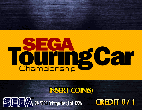 Sega Touring Car Championship (Revision A) Title Screen