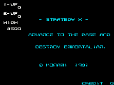Strategy X Title Screen
