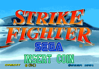Strike Fighter (World) Title Screen