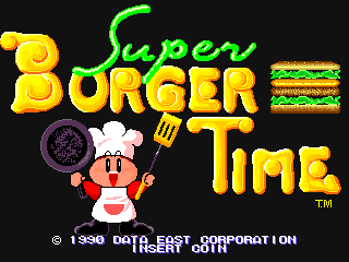 Super Burger Time (World, set 2) Title Screen