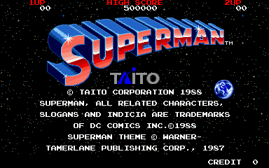Superman (Japan) Title Screen