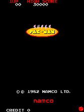Super Pac-Man Title Screen
