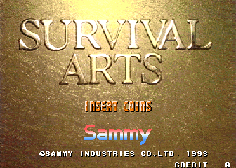 Survival Arts (World) Title Screen