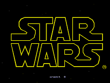 Star Wars Arcade Title Screen