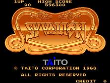 Syvalion (Japan) Title Screen