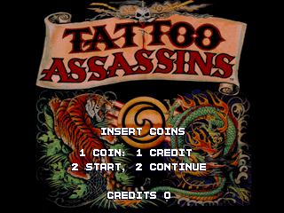 Tattoo Assassins (US prototype) Title Screen