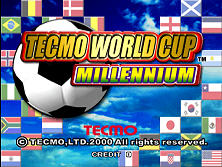 Tecmo World Cup Millennium (Japan) Title Screen