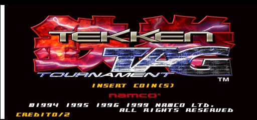 Tekken Tag Tournament (US, TEG3/VER.C1) Title Screen