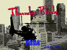 Thunder Blade (upright) (FD1094 317-0056) Title Screen