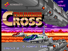 Thunder Cross (set 1) Title Screen
