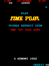 Time Pilot Title Screen