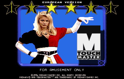 Touchmaster (v3.00 Euro) Title Screen