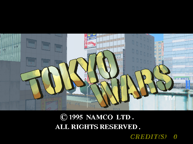Tokyo Wars (Rev. TW2 Ver.A) Title Screen