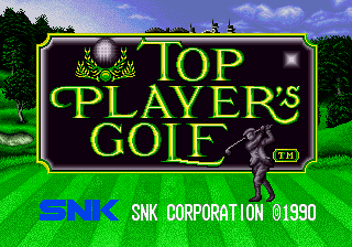 Top Player's Golf (NGM-003 ~ NGH-003) Title Screen
