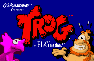 Trog (prototype, rev 4.00 07/27/90) Title Screen