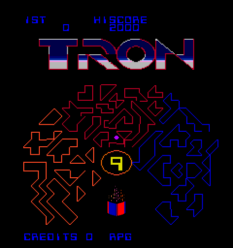 Tron (8/9) Title Screen