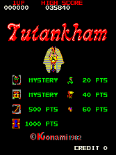 Tutankham Title Screen
