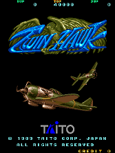 Twin Hawk (World) Title Screen