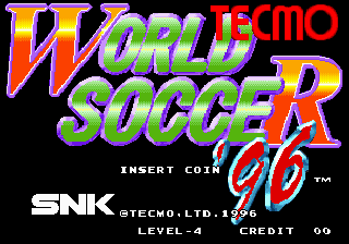 Tecmo World Soccer '96 Title Screen