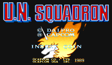 U.N. Squadron (USA) Title Screen