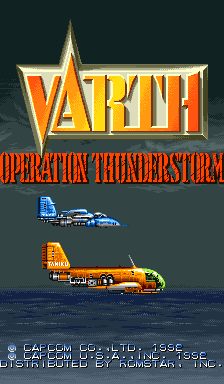 Varth: Operation Thunderstorm (USA 920612) Title Screen