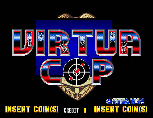 Virtua Cop (Revision B) Title Screen