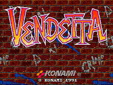 Vendetta (World, 4 Players, ver. T) Title Screen
