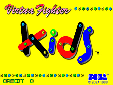 Virtua Fighter Kids (JUET 960319 V0.000) Title Screen