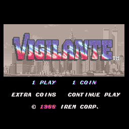Vigilante (World, Rev E) Title Screen