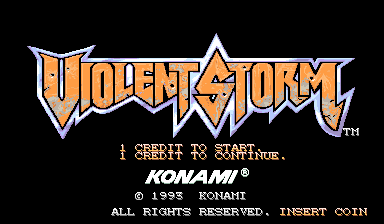 Violent Storm (ver AAB) Title Screen
